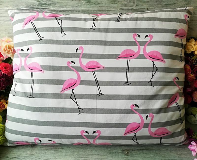 """Мягкая детская подушка для сна """"Розовый фламинго"""" , 50 см * 40 см"""