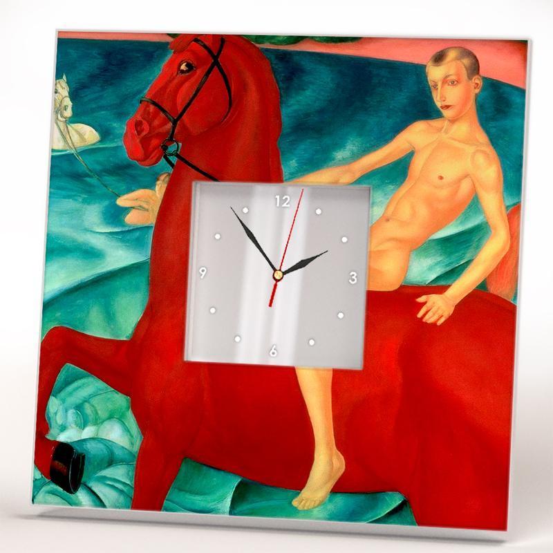 """Настенные часы Кузьма Петров-Водкин """"Купание красного коня"""""""