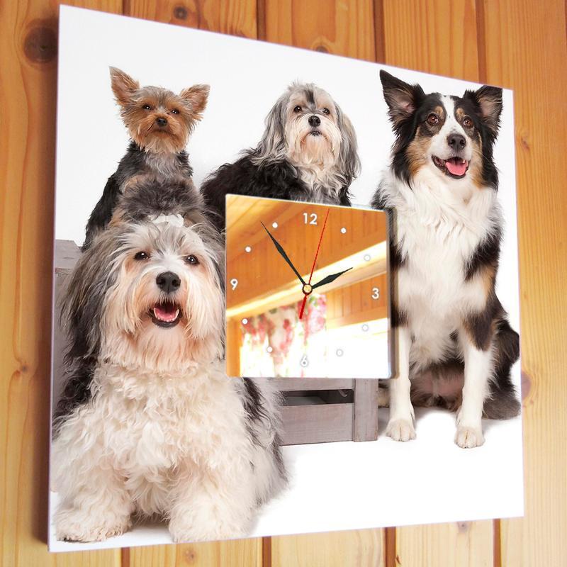 """Дизайнерские часы """"Собачья компания"""""""