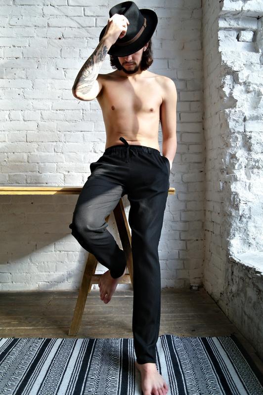 Мужские летние брюки из натурального льна CASUAL LINEN PANTS