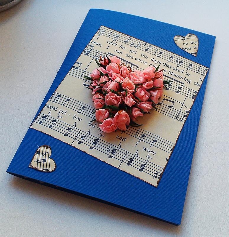 Материал для открытки ручной работы, открытка
