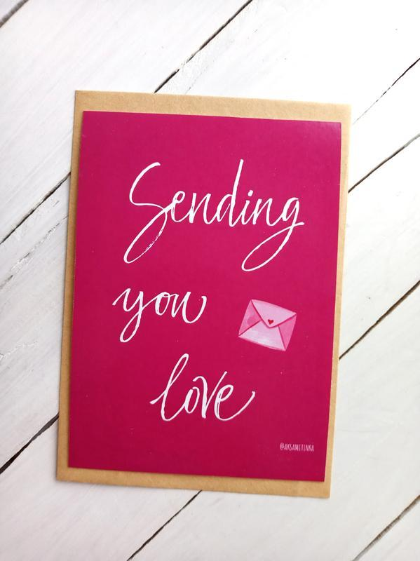 "Открытка ""Sending you love"""