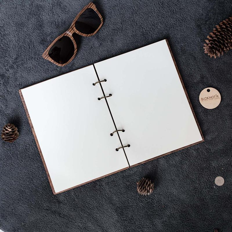 Блокнот для мужчины. Деревянный бизнес-блокнот ручной работы на подарок любимому.