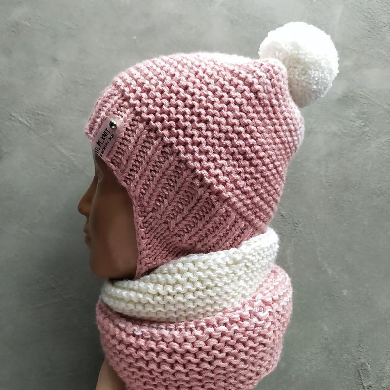 Весенний комплект для девочки шапка снуд