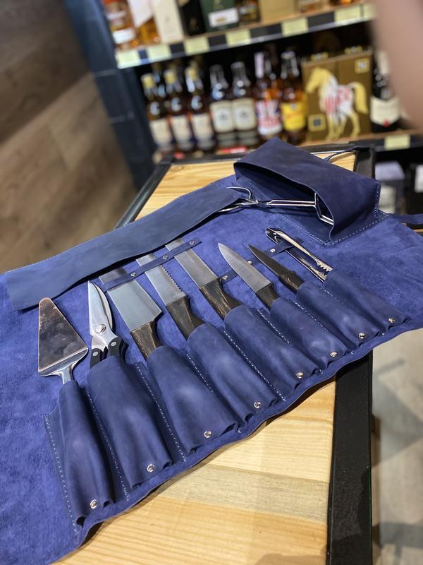 Кожаная сумка чехол для ножей
