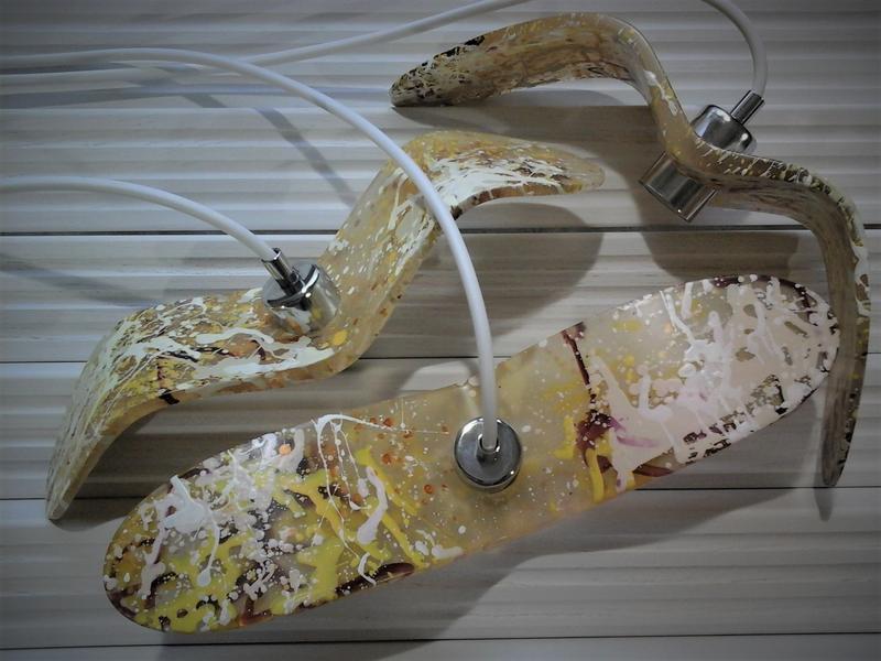 Дизайнерский светильник под мрамор Ночная Птица (Night Birds). Оригинальные светильники ручной работ