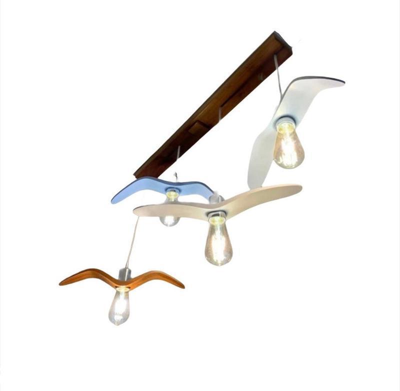 Цветной эко светильник в детскую для мальчика или девочки. Детские оригинальные светильники.