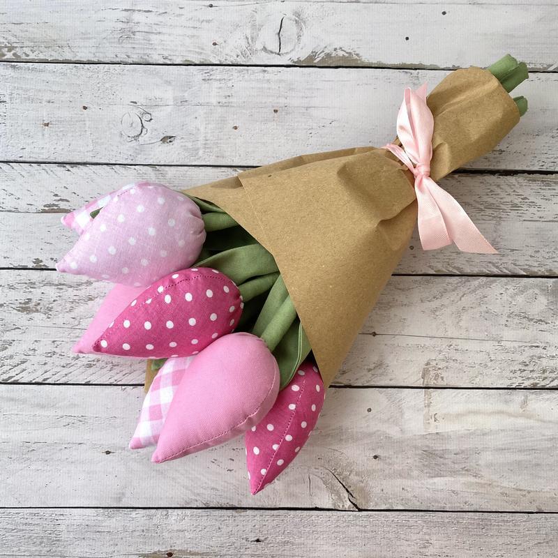 Букет текстильных тюльпанов тильда подарок на День матери