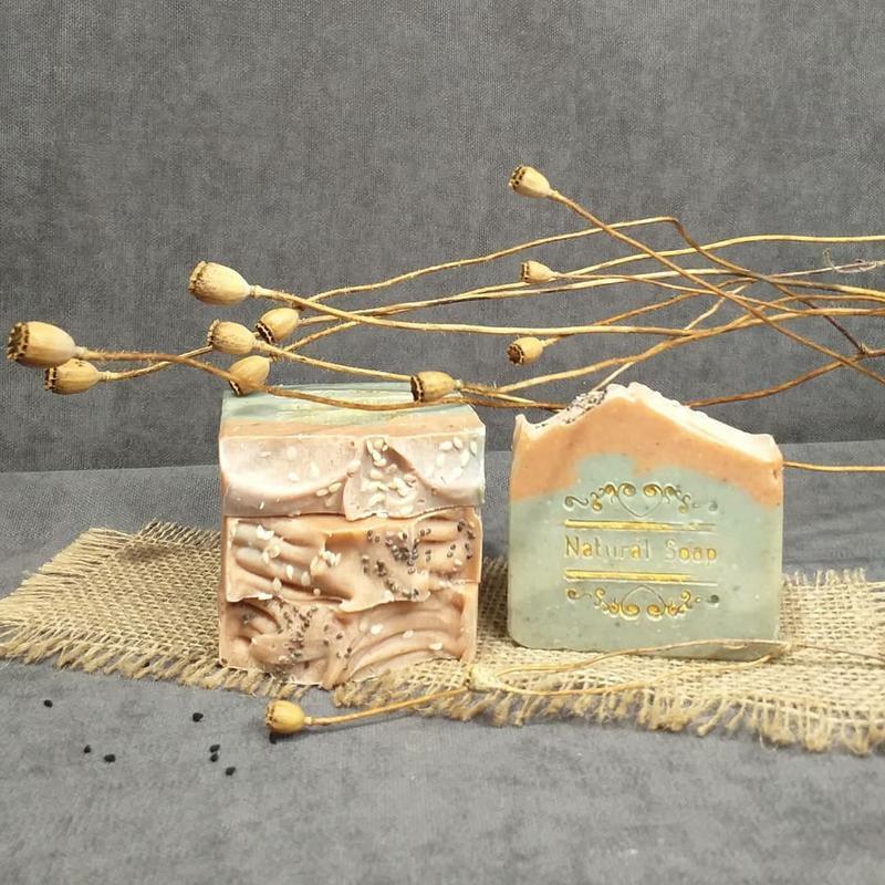 Растительное мыло с 4-мя глинами