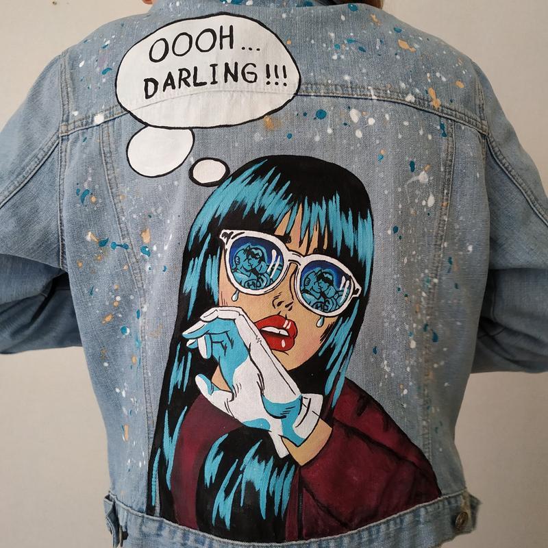 Джинсовая куртка расписанная