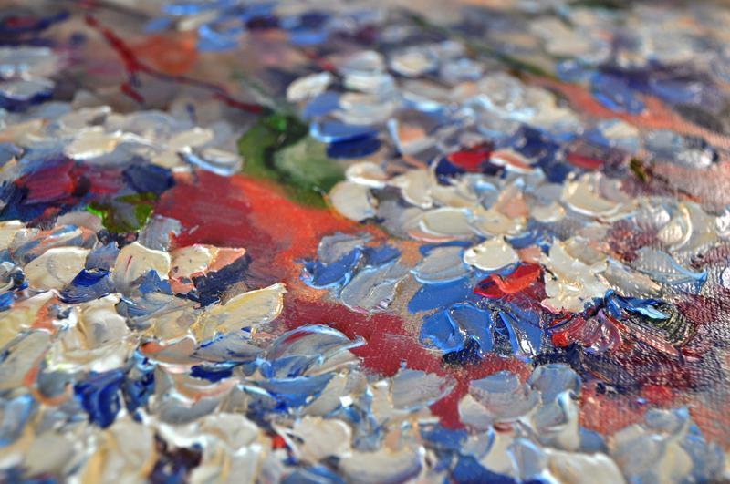 """Картина маслом """"Голубая глициния"""" 60х80 см"""