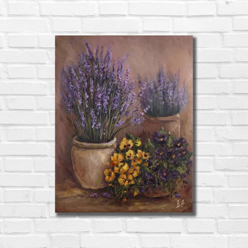 "Картина маслом ""Aромат лаванды"" 45х35 см, холст на подрамнике, масло"
