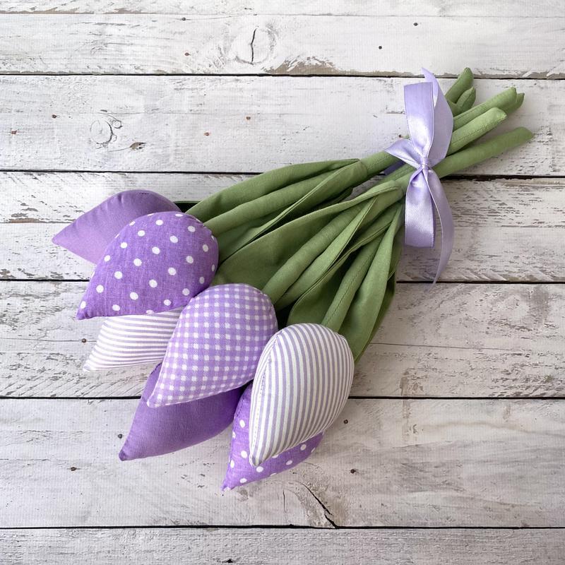 Букет текстильные тюльпаны тильда подарок на 8 марта