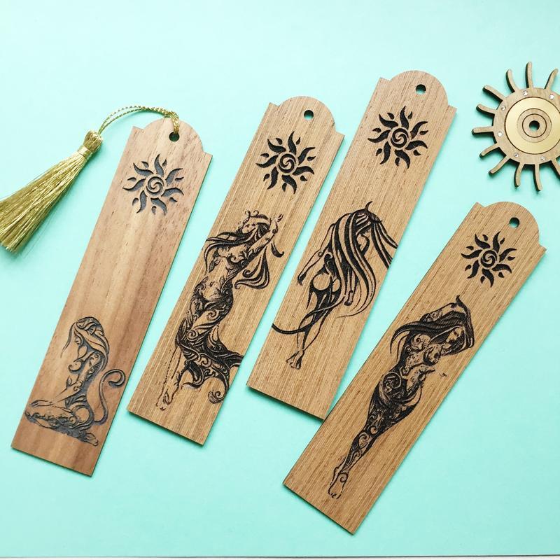 Оригинальные Закладки из дерева