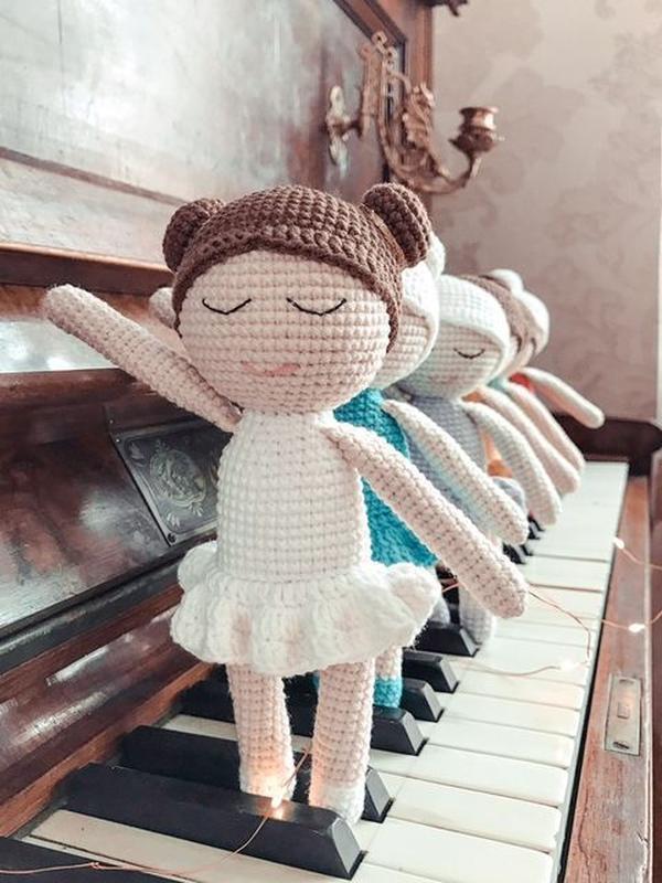 """Вязаная игрушка Кукла """"Балерина"""""""