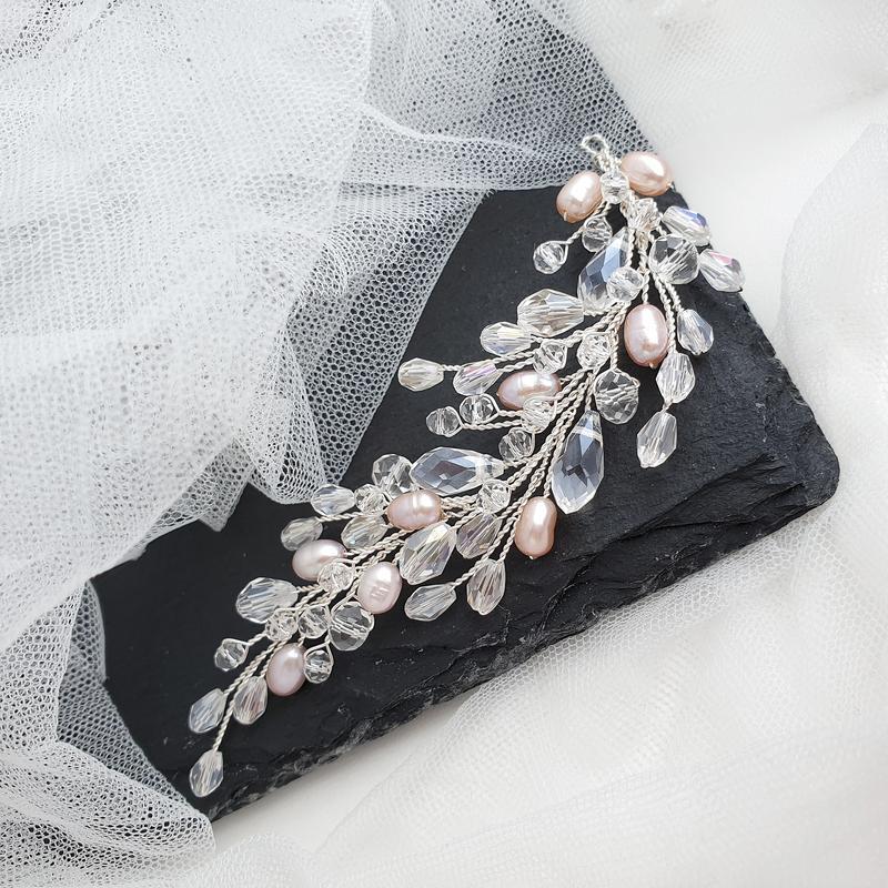 Свадебное украшение для волос, веточка в прическу, украшения в прическу, свадебная веточка
