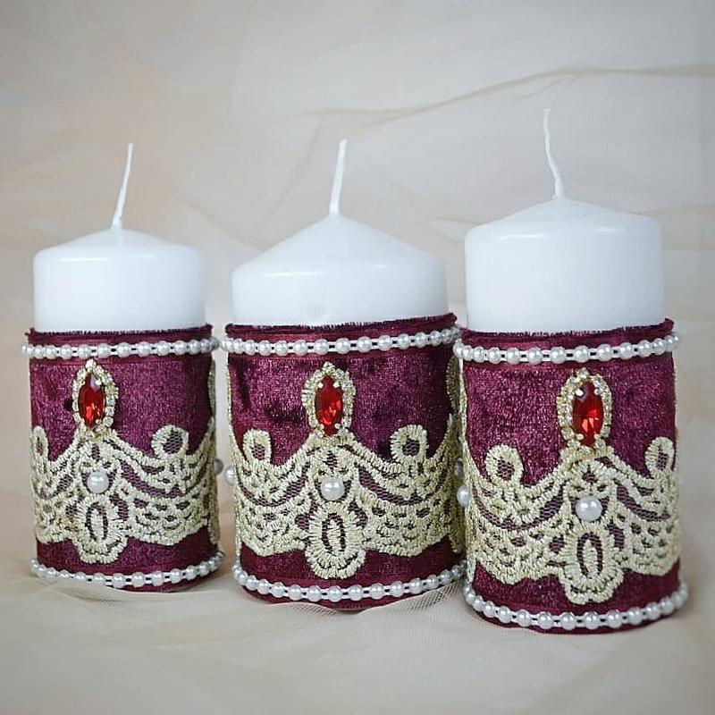 Интерьерные свечи с шикарным декором