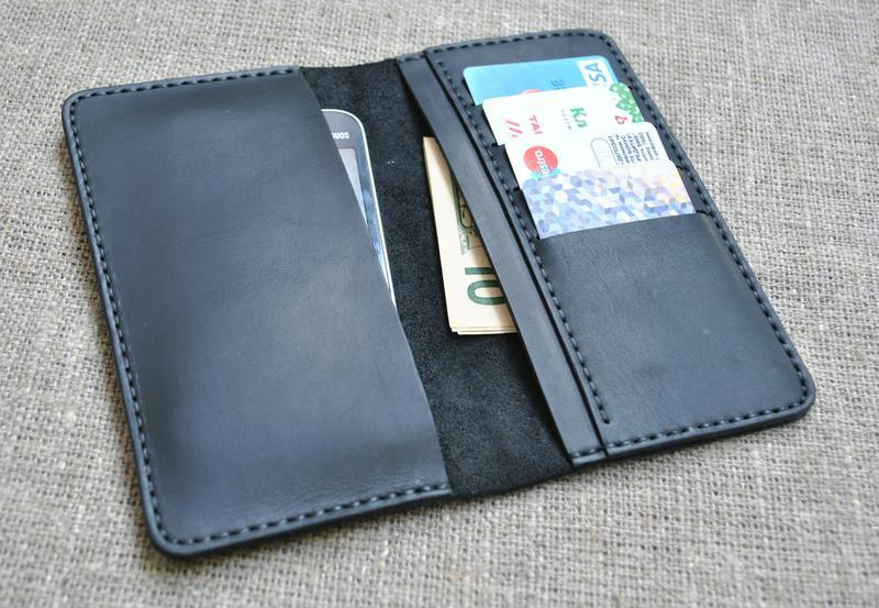 Чехол для гаджета, денег и карт из натуральной кожи H04-0