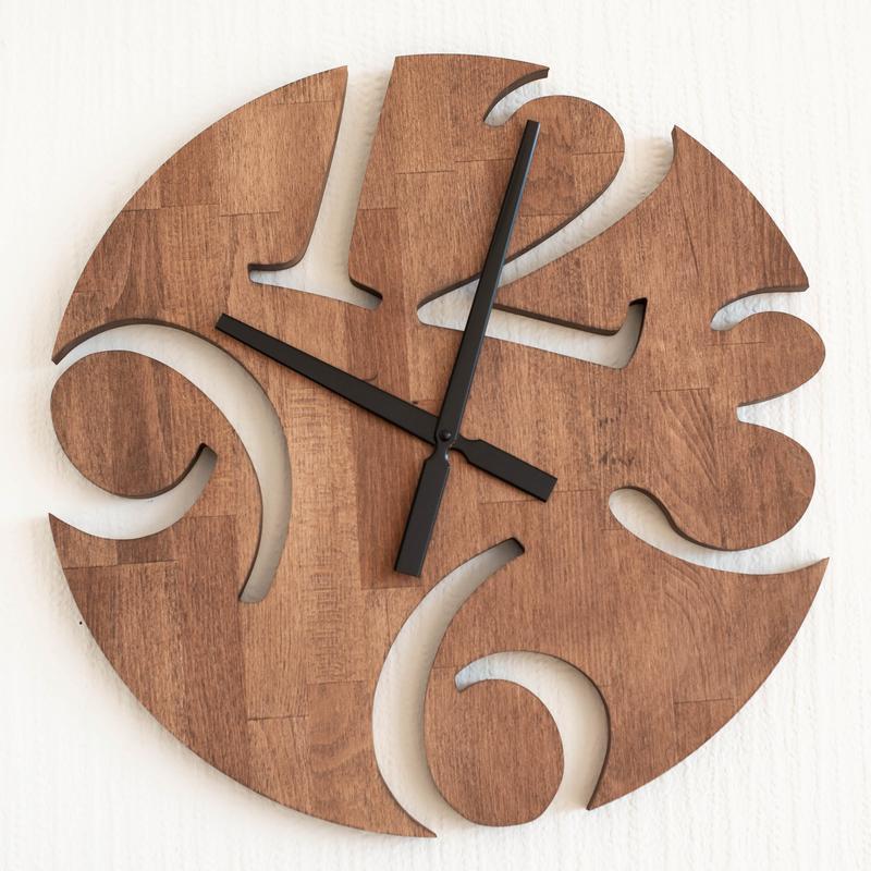 """Часы настенные из дерева """"Prizma"""""""