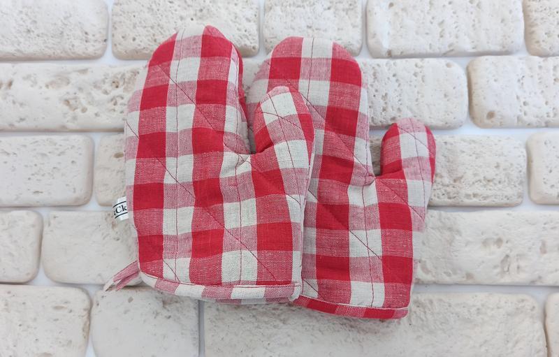Прихватки кухонные, прихватки из льна,кухонная рукавица,набор прихваток