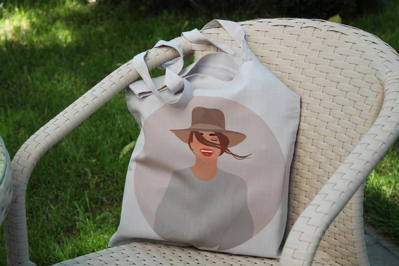 Экосумка девушка киев, шоппер, екосумка, подарунок на 8 березня, экосумки оптом