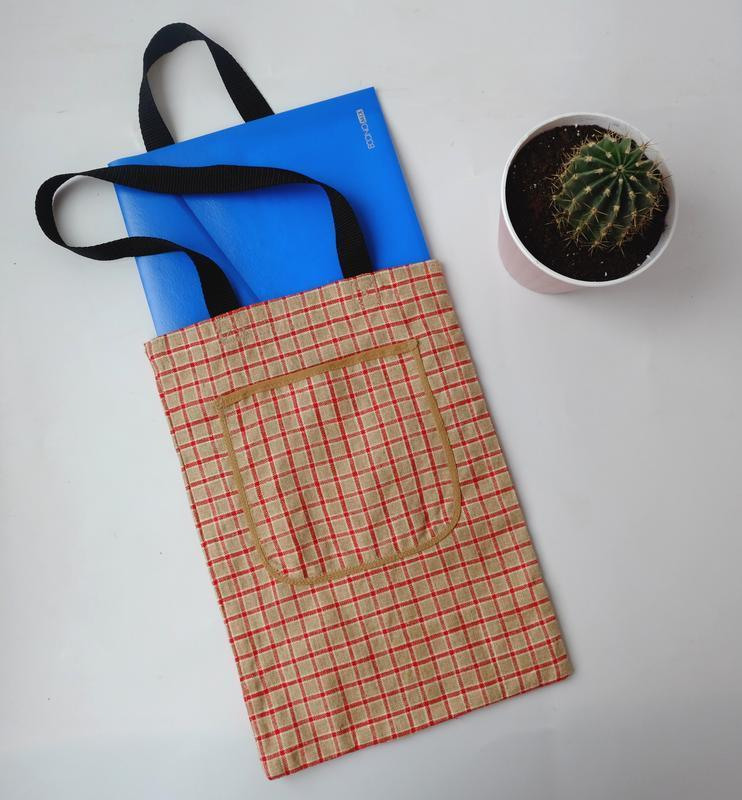Эко сумка с мешковины, эко торба, сумка-пакет, шоппер 04