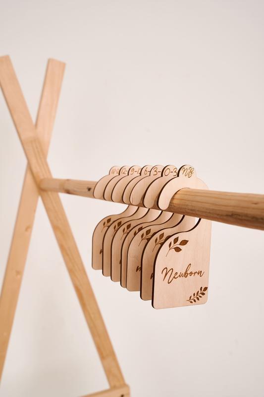 Органайзер для детской одежды, деревянный разделитель в шкафе детской одежды