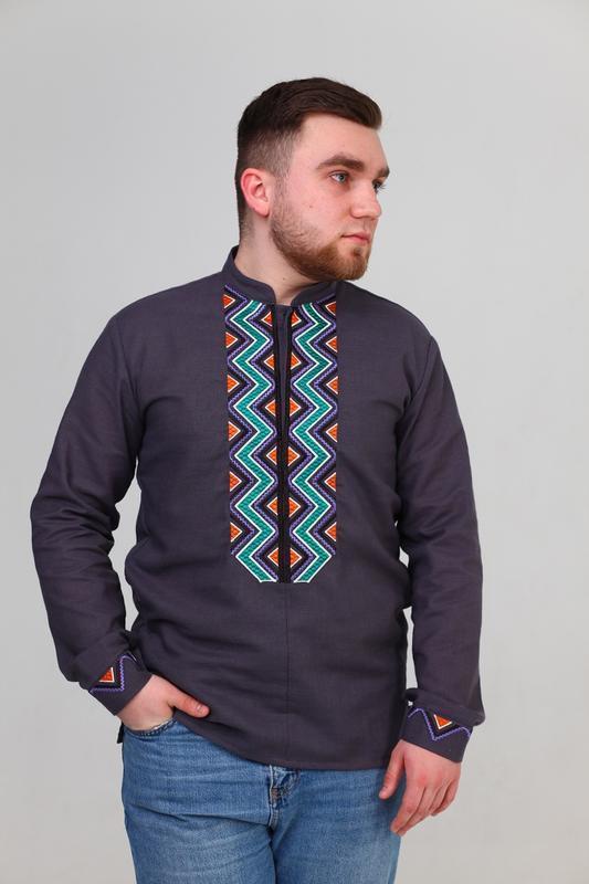 Чоловіча вишита сорочка (513)