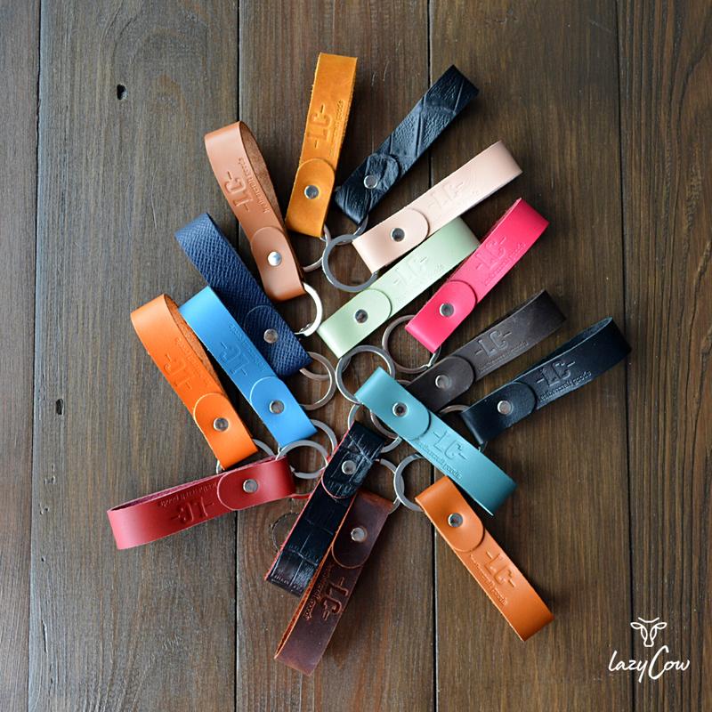 Брелок для ключей из натуральной кожи crazy horse коричневого цвета