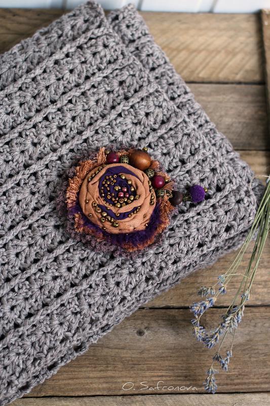 Шарф ажурный демисезонный, шарф на осень