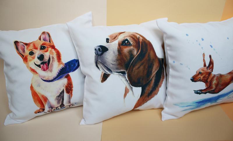 Подушка коты, декоративная подушка - кот, белая подушка киев, декоративная подушка котики
