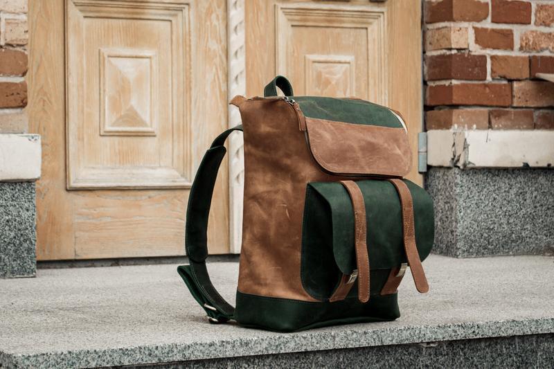 Стильный кожаный мужской рюкзак, Городской рюкзак повседневный для ноутбука