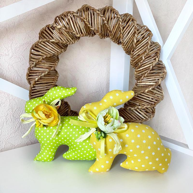 Набор пасхальный кролик, пасхальный декор, тильда