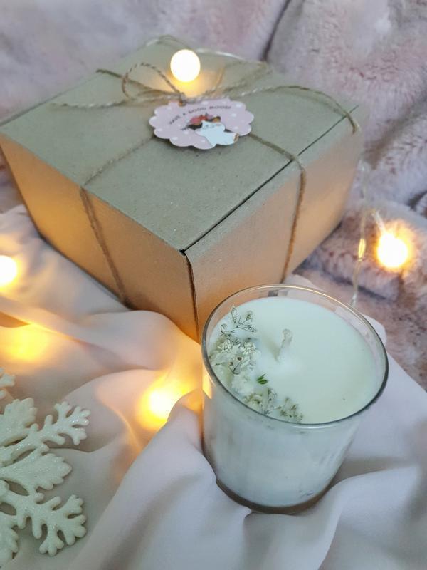 Свеча натуральная ароматизированная 200мл из соевого воска с цветами КОРОЛЕВСКИЙ БУКЕТ