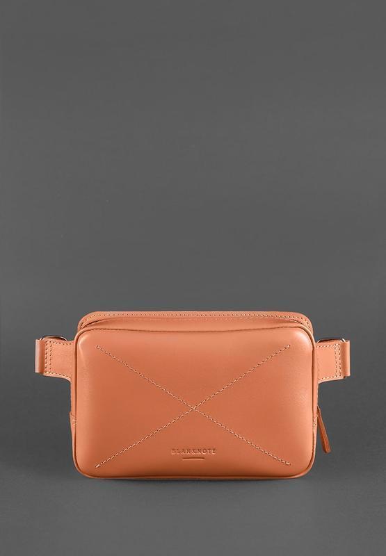 Кожаная женская поясная сумка Dropbag Mini коралловая BN-BAG-6-living-coral