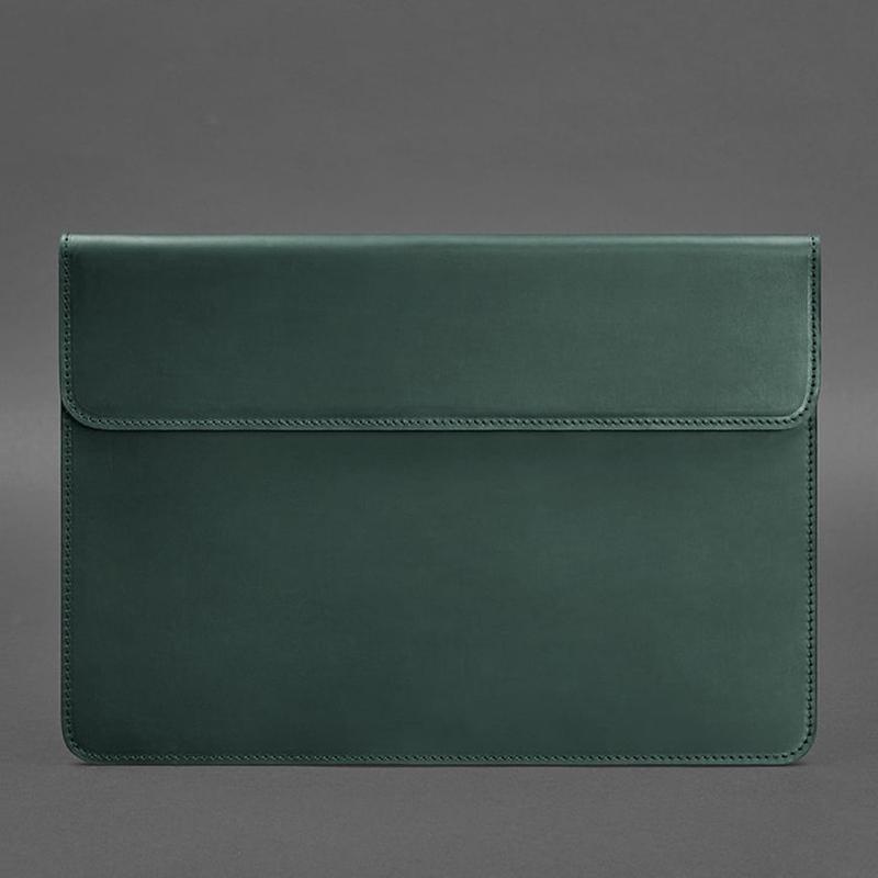 Кожаный чехол-конверт на магнитах для MacBook Air/Pro 13'' Зеленый BN-GC-9-iz