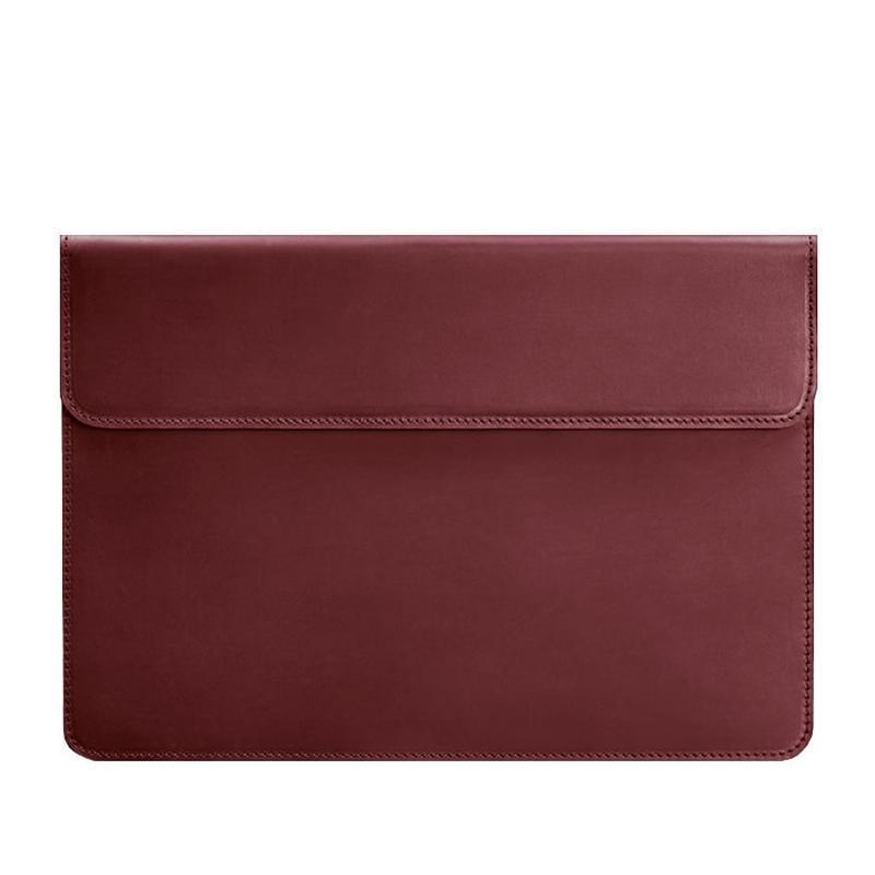 Кожаный чехол-конверт на магнитах для MacBook Air/Pro 13'' Бордовый Crazy Horse BN-GC-9-vin-kr