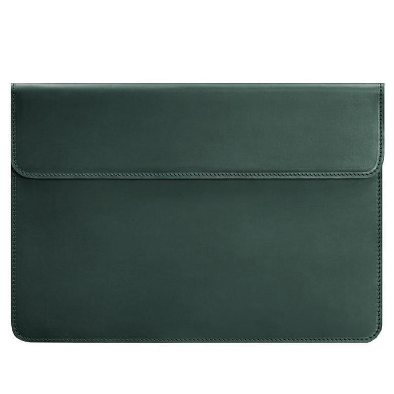 Кожаный чехол-конверт на магнитах для MacBook Pro 15-16'' Зеленый BN-GC-12-iz