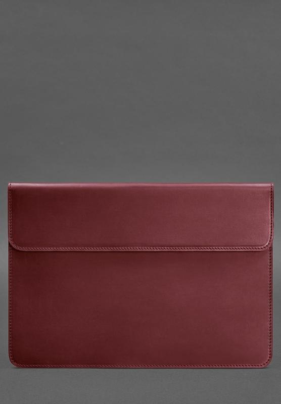 Кожаный чехол-конверт на магнитах для MacBook Pro 15-16'' Бордовый Crazy BN-GC-12-vin-kr Horse