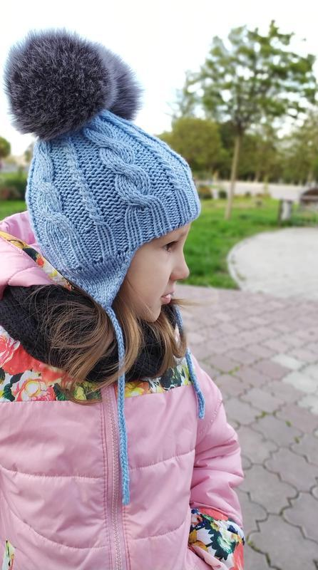 Дитяча шапка, дитячий комплект шапка манішка