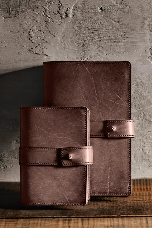 Кожаный блокнот софт-бук, Коричневый. Блокнот с кожаной обложкой. Деловой блокнот, ежедневник