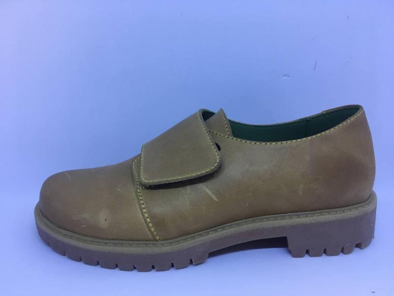 Туфли детские кожаные Solodilova Crash Желтые