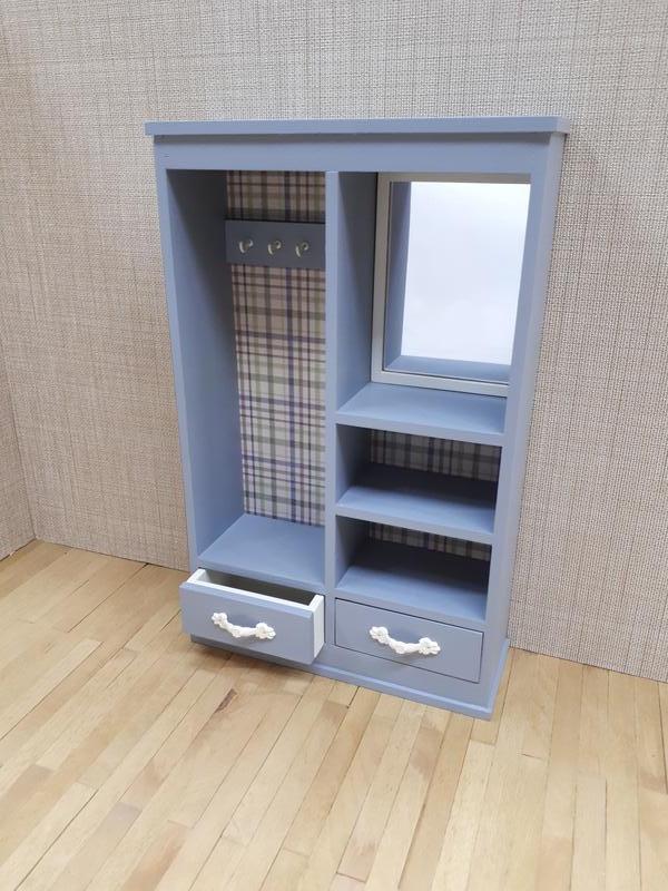 Шкаф 1/6 для кукол 12 дюймов / шкаф с зеркалом / мебель размера барби и блайз
