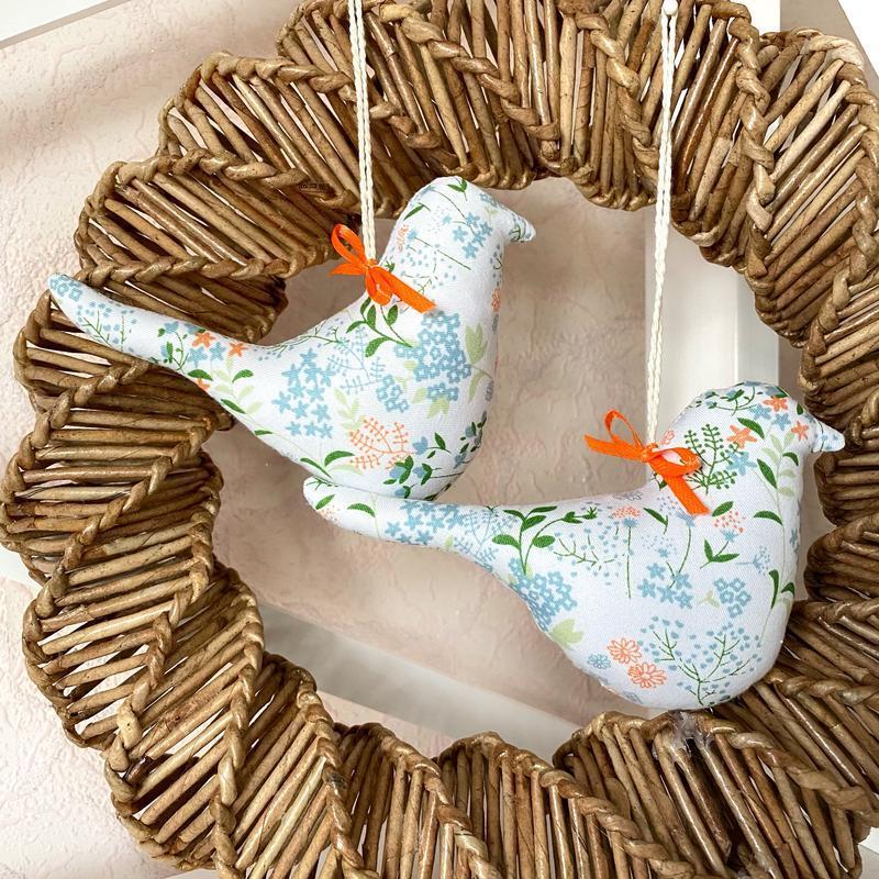 Набор весенних птичек, пасхальный декор