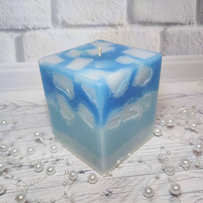 Свеча-мозаика с ароматом меда и молока