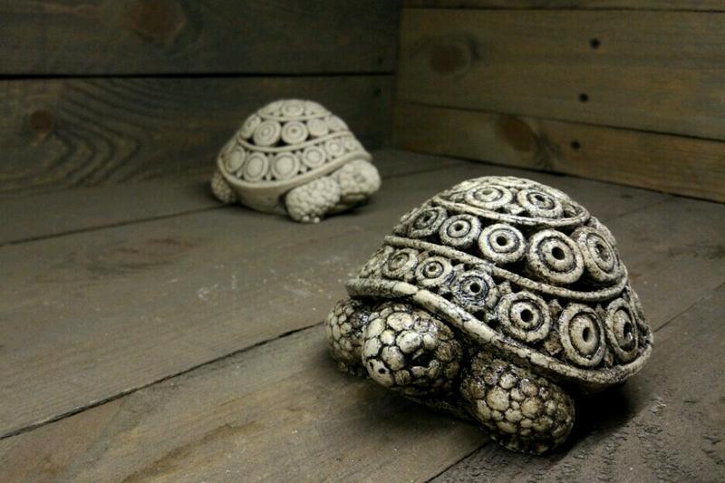 Керамический сувенир - подсвечник Черепаха