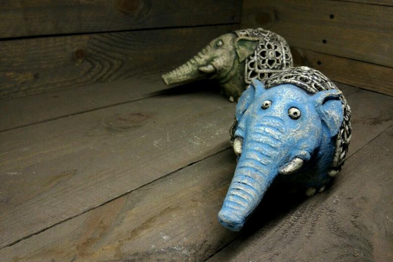 """Керамический подсвечник """"Слон"""""""