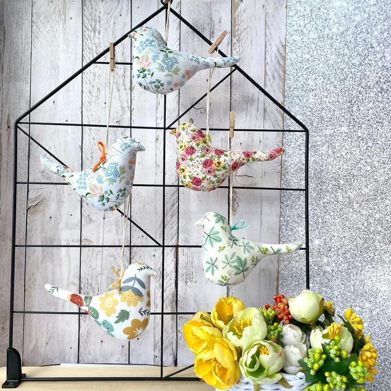 Набор весенние птички, весення композиция, пасхальный декор, пасхальный набор, пасхальные птички