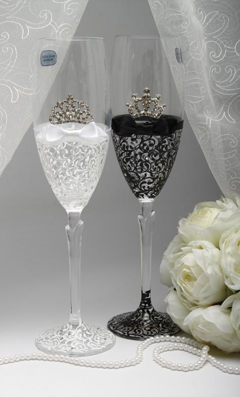 Свадебные бокалы Король и Королева