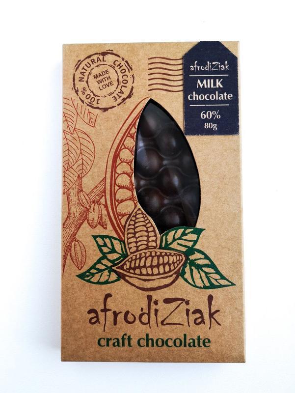 Молочный шоколад 60 % натуральный безлактозный Afrodiziak